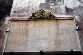 El busto del 'capità Toni' residirá temporalmente en Santa Creu de Palma