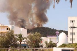 Incendio de importantes dimensiones en Cala Gració, Ibiza