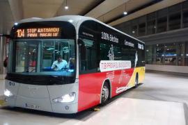El Govern prueba un autobús eléctrico para las líneas interurbanas TIB