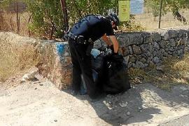 La Policía Local de Bunyola investiga el vertido de basuras en lugares prohibidos