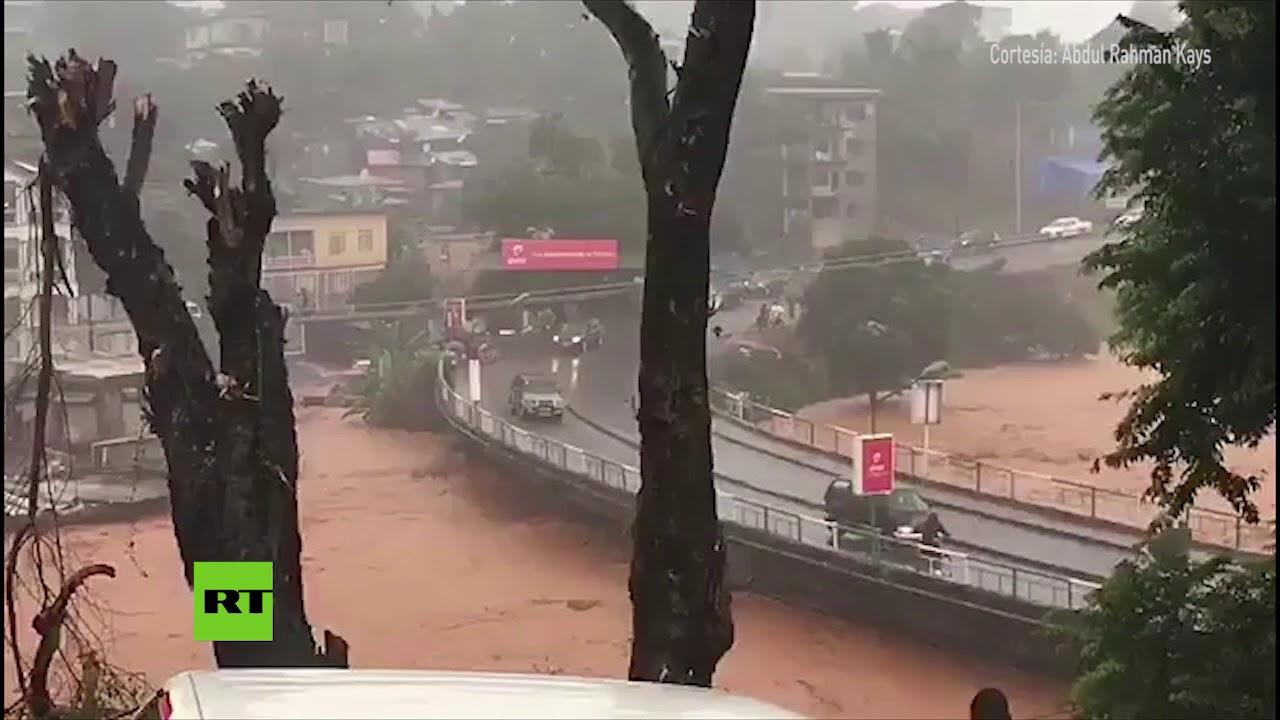 Al menos 200 personas han muerto, 60 de ellas menores, por inundaciones en Sierra Leona