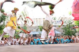 Tradicional baile de los 'cossiers' en Montuïri