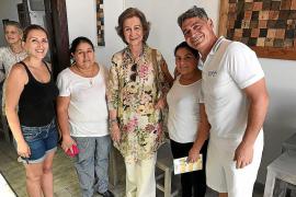 Doña Sofía 'berena' en Artà