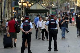 El centro de Barcelona vuelve a quedar cerrado para el minuto de silencio