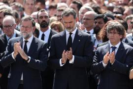 Multitudinarias muestras de condena de los atentados, con el Rey a la cabeza