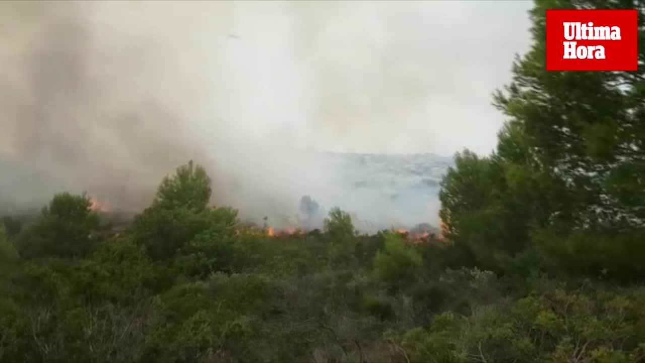 Incendio en Sant Elm
