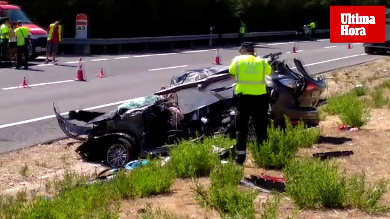 Tres muertos en un grave accidente de tráfico en sa Pobla