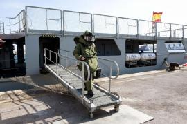 Neutralizados dos artefactos de munición encontrados en aguas de Menorca