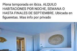 El Consell d'Eivissa tilda de «barbaridad» el alquiler turístico de tipis y chabolas