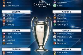 Duros grupos para Madrid y Atlético; Barcelona y Sevilla, mejor parados en el sorteo de Champions