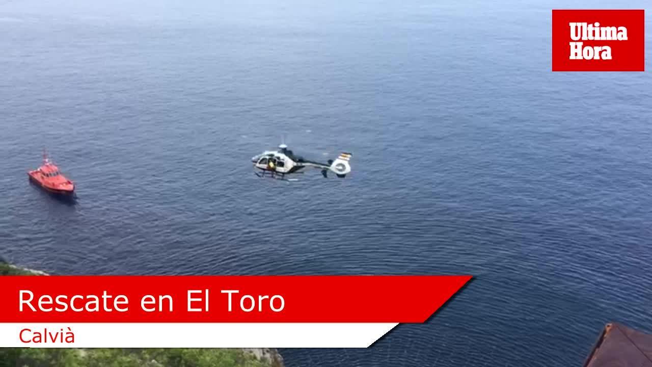 Rescatado un hombre que cayó por una zona acantilada en El Toro
