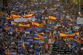 Medio millón de personas asiste a la manifestación de Barcelona