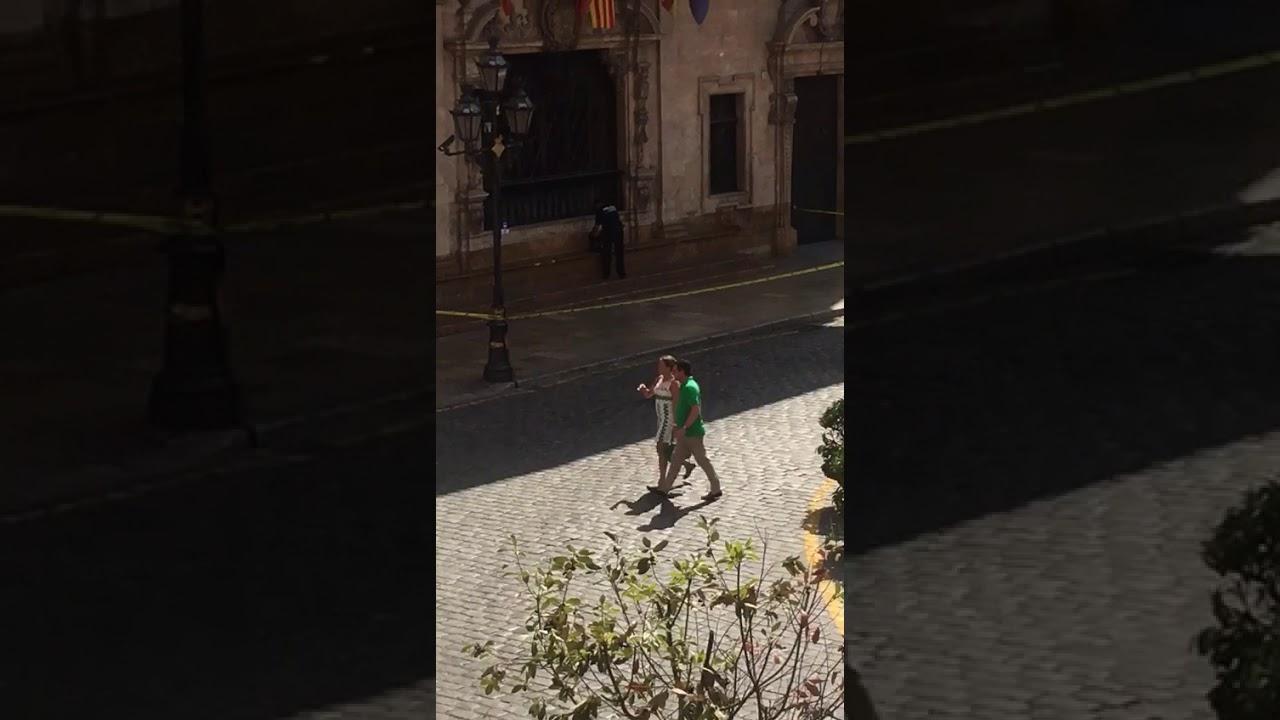 Polémica actuación de un mando policial ante una mochila sospechosa en Cort