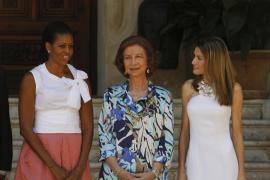 Michelle Obama, doña Sofía y la reina Letizia