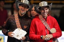 Nadal y Djokovic disputan un partido amistoso y se ganan el corazón de los colombianos