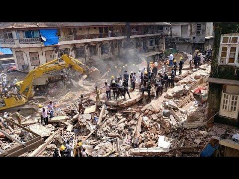 Al menos 19 muertos y 15 heridos en un derrumbe en Bombay