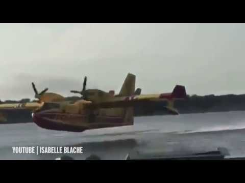 Un hidroavión colisiona con un velero en el puerto francés de Vallabrègues