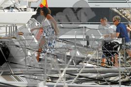 Michelle Obama sale a navegar por aguas de Mallorca