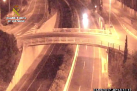 Detenido por conducir bebido y en sentido contrario por la autopista de Andratx