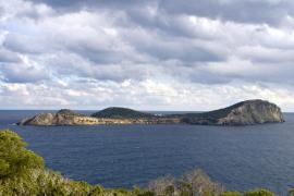 Vista general de la isla de Tagomago.