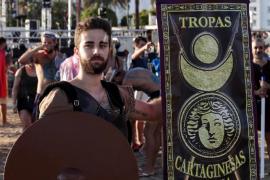 Tradicional batalla entre cartagineses y romanos en la playa del Arenal de Sant Antoni