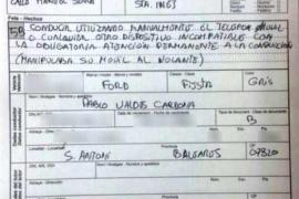 Las dos multas a Valdés fueron notificadas en el momento que las firmó a la Policía Local