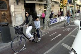Las bicis no podrán circular por las aceras de Palma a partir de finales de año