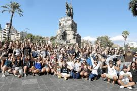 Universitarios de otros países participan en una gimcana por Palma para conocer la ciudad