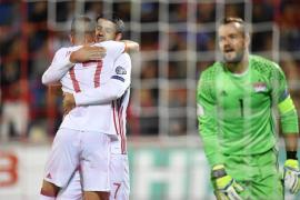 España vapulea a Liechtenstein y le endosa 8 goles