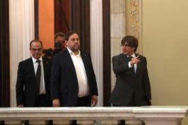 La Mesa del Parlament de Catalunya admite a trámite la ley del referéndum