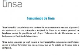Despedida la mujer que deseó que violaran en grupo a Inés Arrimadas