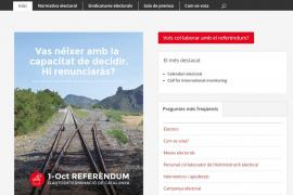 La Generalitat de Cataluña publica las normas de votación para el 1-O