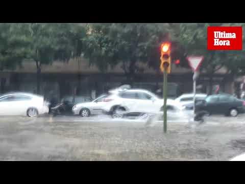 Caos circulatorio en Palma por las fuertes lluvias