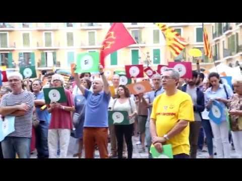Más de 200 personas expresan en Palma su apoyo al proceso de independencia catalana