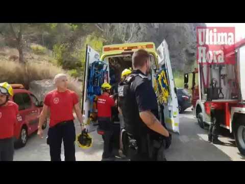 Rescatan a un pescador herido en las rocas de s'Aguilot en el Port de Andratx