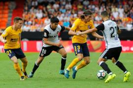 Empate entre Valencia y Atlético en un partido intenso