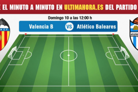Valencia Mestalla-Atlético Baleares: minuto a minuto