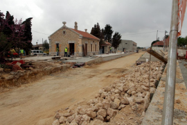 Buen ritmo de las obras de la línea del tram tren de Manacor a Artà, que acabarán en un año