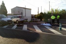 Un motorista de 37 años muere en un choque frontal en la carretera de Sant Josep