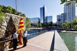 Solo la 'senyera' ondea en Sabadell por la Diada del 11-S