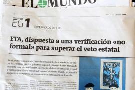 ETA afirma que está dispuesta a una verificación «informal» de la tregua