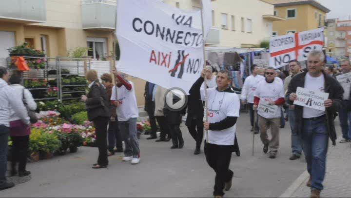 Protestas contra Aina Calvo por los nuevos accesos viales a Son Ferriol