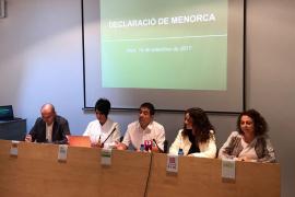 MÉS per Mallorca se adhiere a la Declaración de Menorca