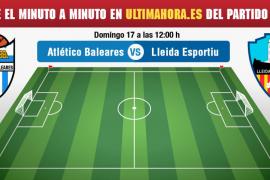 Atlético Baleares-Lleida: minuto a minuto