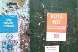 Denuncian la aparición de falsos carteles por el 'no' del PSC, PP o Ciudadanos