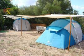 La Guardia Civil cierra tres campings ilegales que se ofertaban a turistas por internet