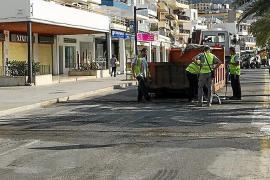 La semipeatonalización de la primera línea del Port de Pollença estará acabada en abril