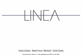 'Linea', una exposición para la Nit de l'Art 2017 de Cartaxo, Ferrer i Martorell y Gañán en la galería Pep Llabrés