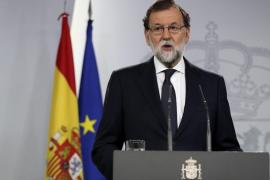 Rajoy dice que la Generalitat está a tiempo de evitar males mayores