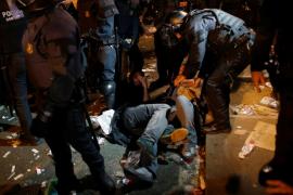 Noche tensa en Barcelona entre los manifestantes y los policías